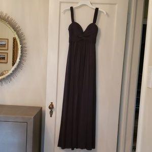 Long navy blue formal dress